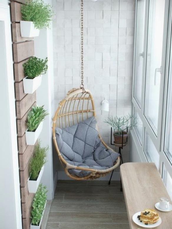 Más de 100 fotos de decoración de terrazas y balcones pequeños y ...