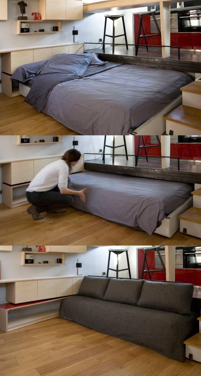 formas-increibles-de-ocultar-una-cama-en-una-casa-pequena-fotos-cama-en-un-cajon-convertida-en-sofa