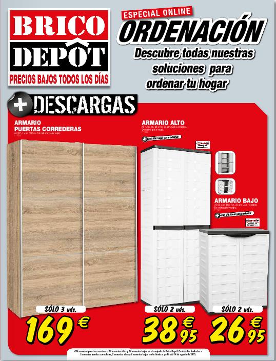 Brico depot cat logo armarios y almacenamiento for Mesa plegable bricodepot