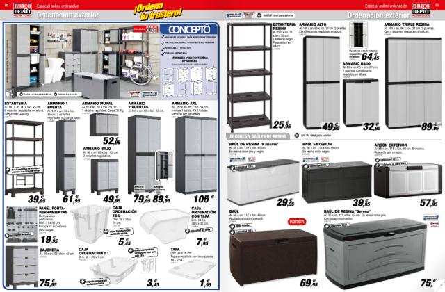 Brico depot cat logo armarios y almacenamiento for Baules plastico para exterior
