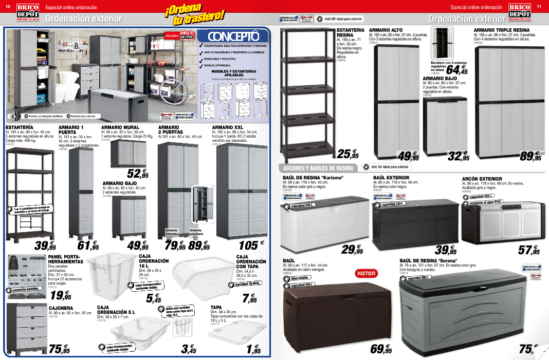 Brico depot orden baules resina - Puertas de armarios de cocina en brico depot ...