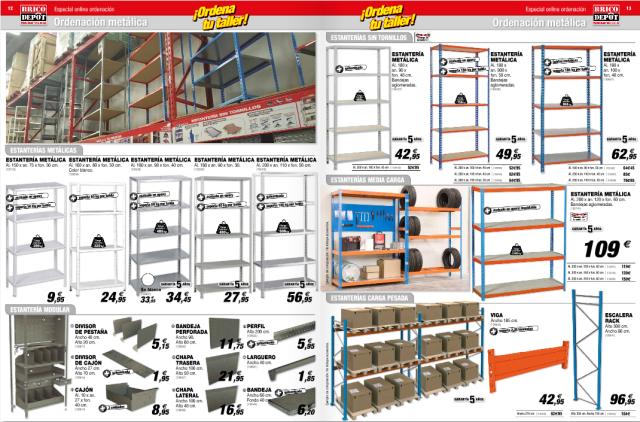Brico depot cat logo armarios y almacenamiento - Estanterias metalicas brico depot ...