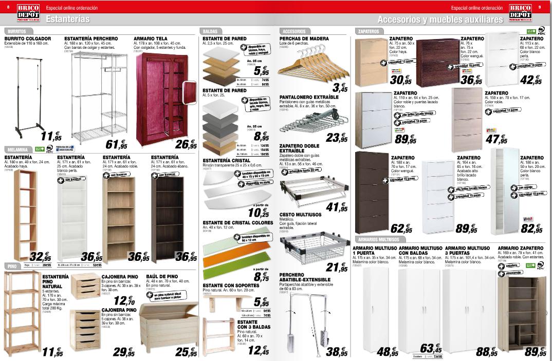 Brico depot orden estanterias zapateros for Armario de madera conforama