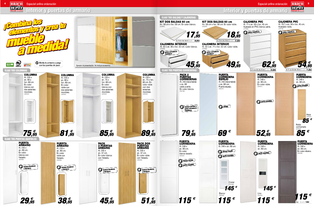 Brico depot orden modulos armarios - Puertas de armarios de cocina en brico depot ...