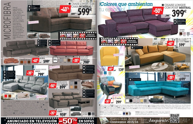 02 ofertas sofas conforama octubre 2015 - Conforama sevilla catalogo ...