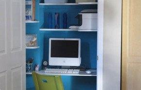 Instala tu oficina dentro del armario