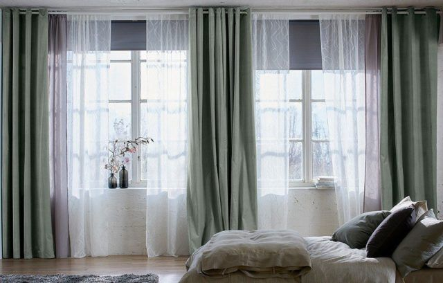 Ideas de decoraci n cortinas para el dormitorio 2018 for Cortinas cortas ikea
