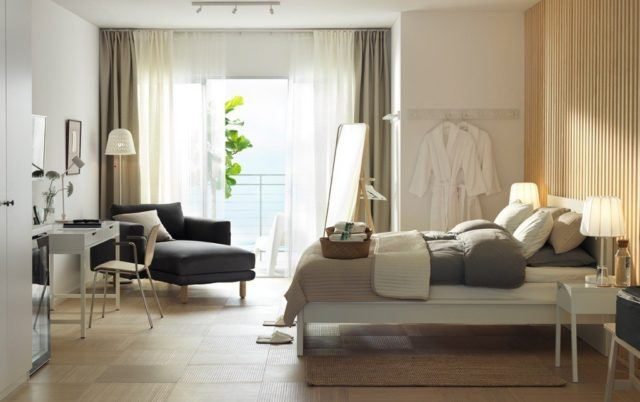 ideas de decoraci n cortinas para el dormitorio 2018. Black Bedroom Furniture Sets. Home Design Ideas