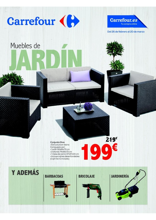 Cat logo carrefour muebles de jard n mayo 2017 for Piscinas carrefour catalogo 2015