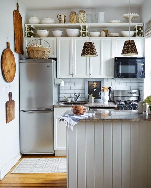 De 100 fotos de cocinas pequeñas modernas de 2017