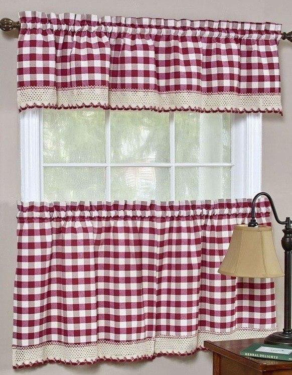 M s de 100 fotos de cortinas de cocina modernas for Cortinas para cocina rustica