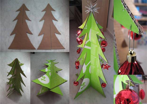 50 Ideas For Christmas Trees With Recycled Materials