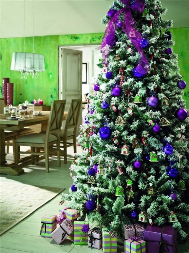 Tree-christmas-decoration-photos-2015-trends-color-blue-lilac