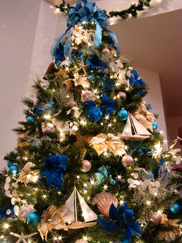 arbol-navidad-decoracion-fotos-2015-tendencias-color-azul-y-cobrizo
