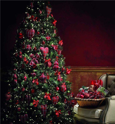 arbol,navidad,decoracion,fotos,2015,tendencias,color,british
