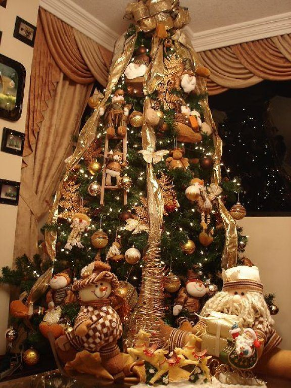 arbol-navidad-decoracion-fotos-2015-tendencias-color-cobrizo