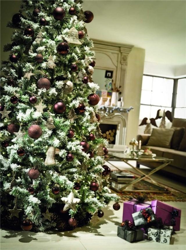 De 300 fotos de arboles de navidad 2016 decorados y - Nieve para arbol de navidad ...