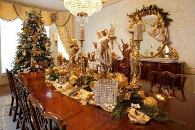centros-de-mesa-navidenos-angel