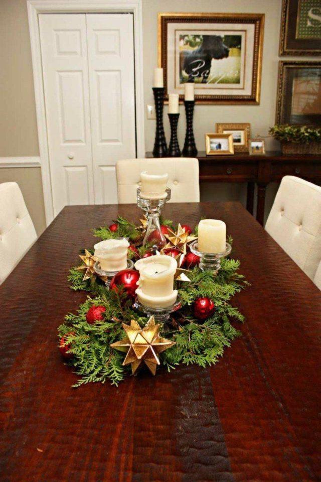 100 Fotos De Centros De Mesa Navidad 2018 Espaciohogarcom - Centros-de-mesa-navideos-con-velas