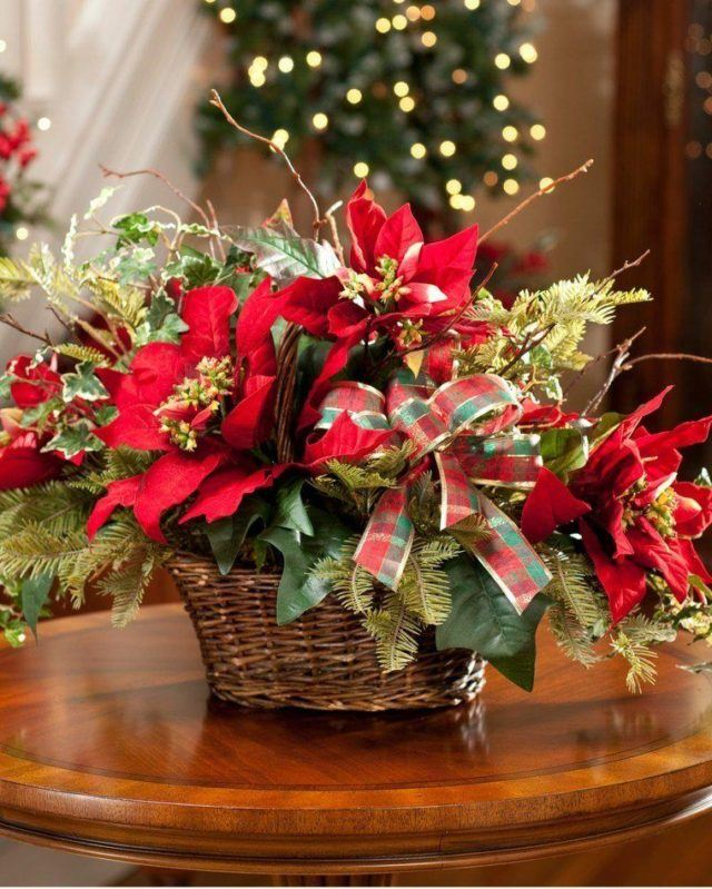 Christmas-table-center-flowers-red