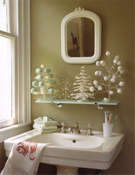 decorar-bano-navidad-arboles-minimalistas