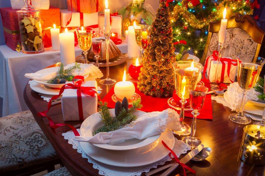 Fotos de navidad paisaje decoracion mesa navidena - Mesa navidena ...