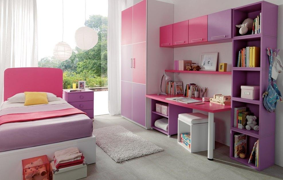 Escritorios juveniles modelos rosa - Decoracion habitaciones juveniles nina ...