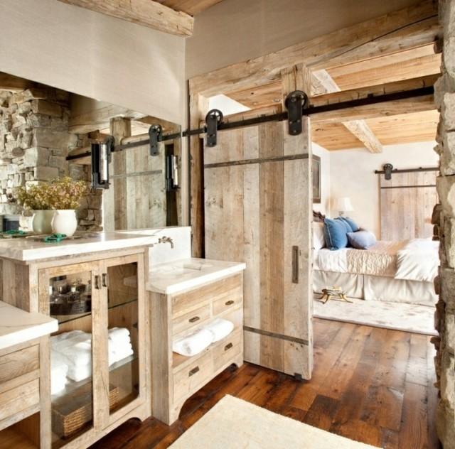 Baños rústicos   espaciohogar.com