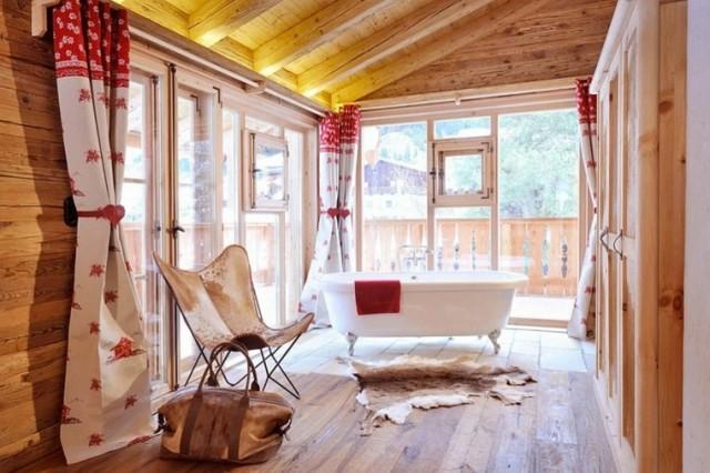 M s de 100 fotos con ideas de decoraci n para ba os for Decoracion techos madera interior