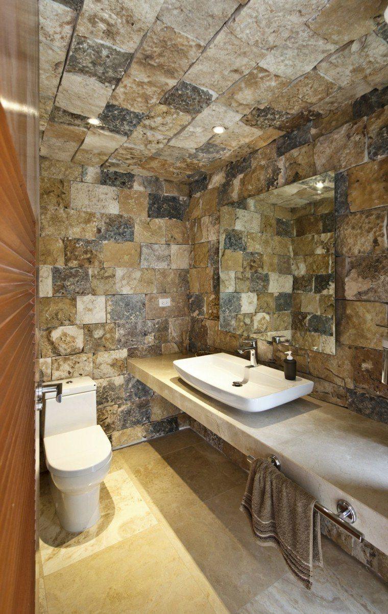 ideas de decoración rural para sala de estar De 100 Fotos Con Ideas De Decoracin Baos Rsticos 2020