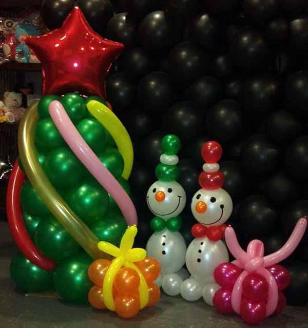 decoracion-de-navidad-con-globos