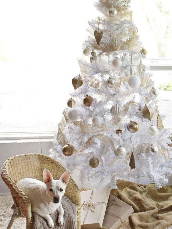 Christmas trees-white
