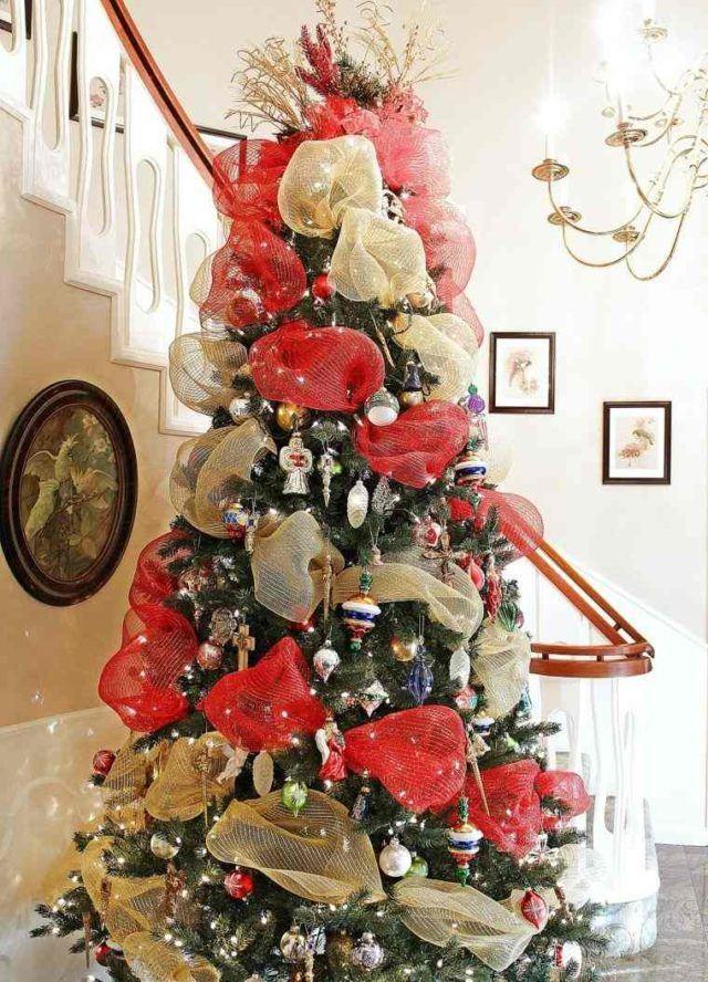 arboles-de-navidad-con-lazos