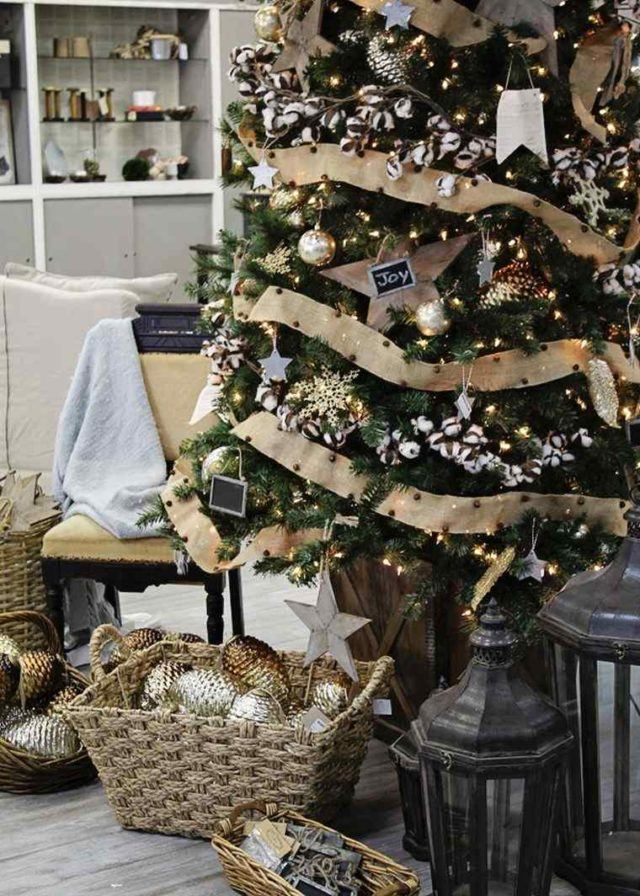 Christmas trees-elegant-with-ornaments
