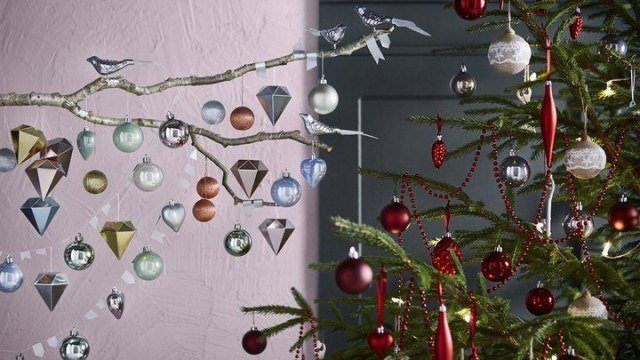 Christmas trees-ikea-with-ornaments