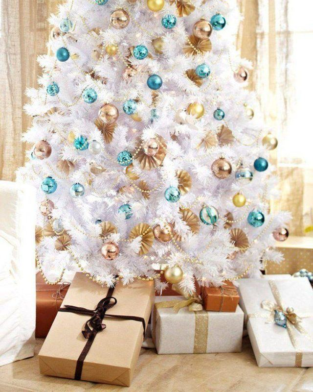 Christmas trees-modern-white