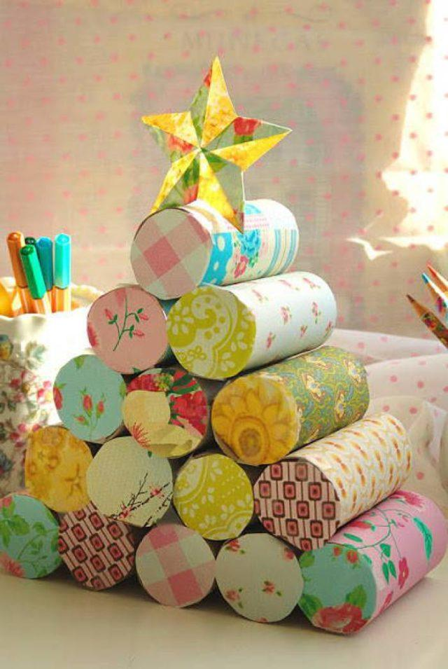 Trees-of-christmas-for-kids-with-paper-hygienic-rolls