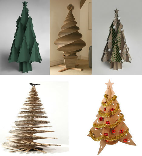 Trees-of-christmas-recycled-of-carton