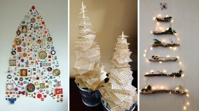Christmas trees-recycled-made-by-hand