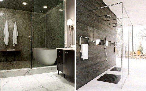 banos modernos con varias duchas