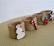 Ideas originales para hacer servilleteros de Navidad