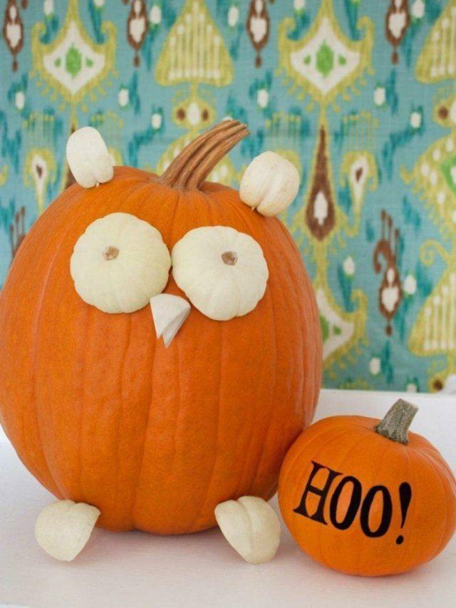 C mo hacer calabazas de halloween manualidades 2018 - Calabazas pintadas y decoradas ...