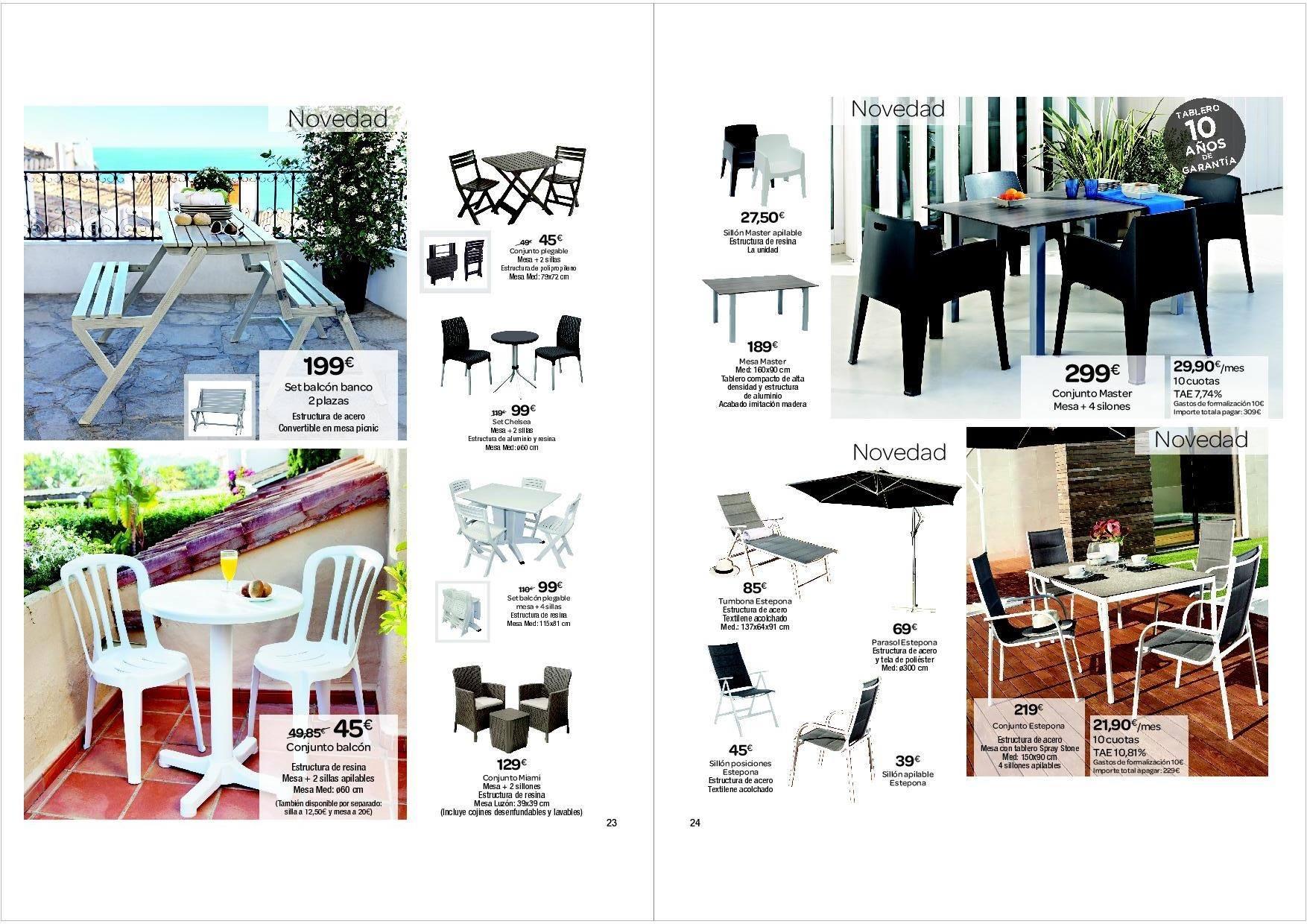 Catalogo carrefour jardin abril 2016 12 for Muebles jardin carrefour 2016