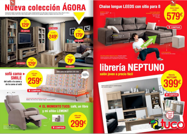 Cat logo muebles tuco abril 2016 for Folletos de muebles