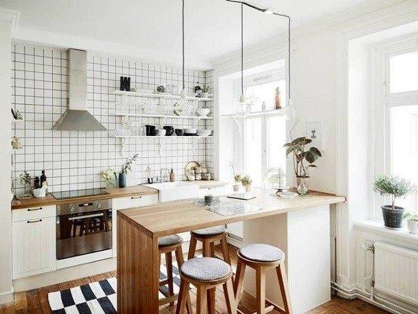 cocinas-pequenas-de-diseno-isla-de-madera