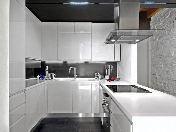 de 100 Fotos de Cocinas pequeñas modernas de 2018