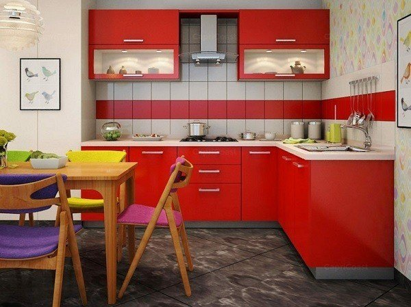 kitchens-small-in-furniture-red