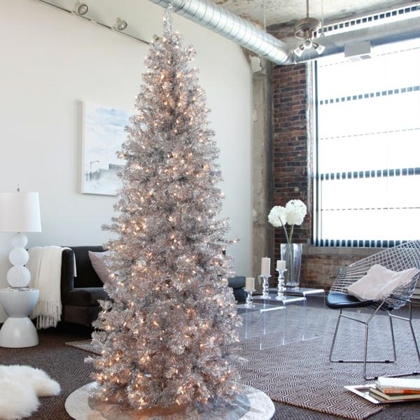 Artificial-christmas-decoration-of-trees-silver