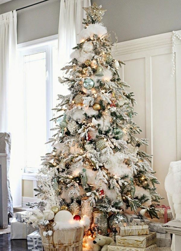 decoracion-de-arboles-de-navidad-blanco-alto