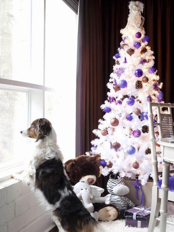 decoracion-de-arboles-de-navidad-blanco-bronze